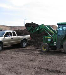 loading mulch mulch, bulk loading