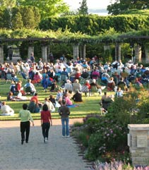 poeple enjoying summer concert series